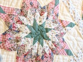 Stunning king size patchwork quilt or bedspread