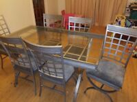 Glass table 6 chairs need gone asap