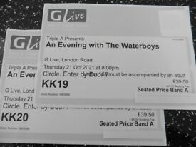 2 x tickets for The Waterboys @ GLive Guildford tonight 21st Oct
