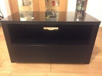 Black TV Stand with Glass cover