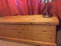 Solid wood pine blanket box / chest / trunk