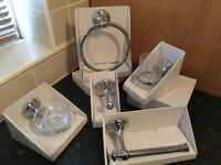 Chrome Bathroom Set - B&Q - NEW - Bathroom 5 Piece Matching Set - High Quality