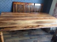 Lovely Real wood Dining table with 6 chairs