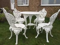 Garden table and chairs in Leeds West Yorkshire Garden