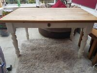 Large heavy solid wood table