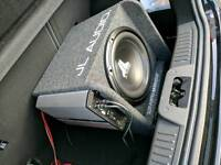 """JL AUDIO 12"""" 300 watts and 360watt amp"""