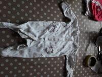 6 0-3 girls baby grows, mamas & papas & winnie the pooh