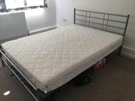 Standard Double Bed Frame and Mattress