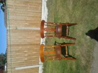 2 dinning room chairs