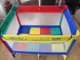 GRACO PACK N PLAY COMPACT TRAVEL COT/PLAYPEN VGC