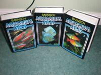 BAENSCH Aquarium Atlas vols 1-3 plus Dr Axelrod's Atlas for Freshwater Aquariums