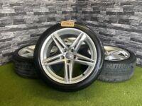 "18"" Genuine Audi A5 S Line Alloy Wheels Sportback Tyres A4 VW SEAT"