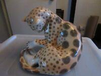 Leopard / Cheetah China / Porcelain ornament by Lomonosov
