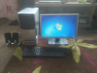 "for sale full delll computer dell tower /19"" lcd widescreen monitor etc £35"