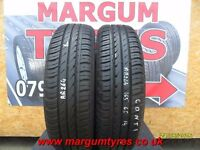 AA.264 2X 165/65/14 79T 1X7MM 1X6MM TREAD CONTINENTAL ECO CONTACT3 - USED TYRES