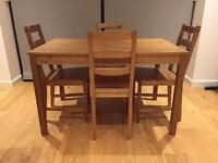 Table with 4 chairs and Coffee table