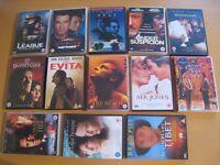 DVDs for sale - set of 13 movies - Evita, The DaVinci Code, Heat, Under Suspicion, etc.