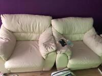 Beige sofa with 3 armchairs for sale