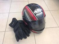 Motorcycle helmet & gloves size S
