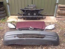 Mercedes Vito 2004-2010 Front END bumper radiators slam panel headlight bonnet