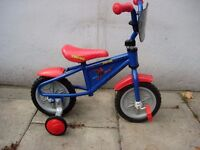 Kids 1st Bike Blue W/ Stabilisers, 8 inch wheels Great For 1 1/2 Years +,JUST SERVICED/ CHEAP PRICE!