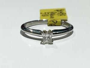 #1489 PLATINUM PRINCESS CUT 0.25CT DIAMOND SOLITAIRE ENGAGEMENT RING *SIZE 5 1/2* JUST BACK FROM APPRAISAL AT $1750.00