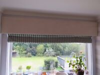 Pelmets & Blinds - various sizes and colours available, like-new condition