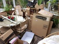 Large job lot of moving boxes