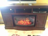 Beautiful solid walnut tv stand and console