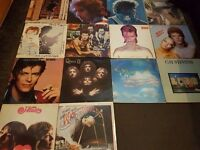 """ROCK - 12"""" VINYL RECORD COLLECTION - BOWIE - DYLAN - ETC"""