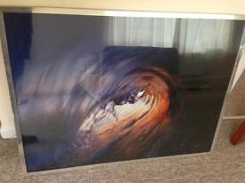 Large framed limited edition signed print