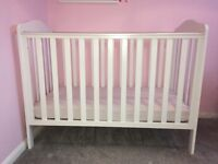 Mothercare Cot, white