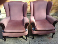 lovely high back chairs £90 pair