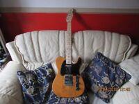 Fender Squier Telecaster In Butterscotch Blonde.