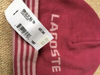 Lacoste Hat and scarf for sale