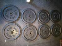 8 x 10 kg standard cast iron weights