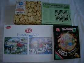 jigsaws, 500 pieces including some challenging ones, used from £1.50 to £2 each