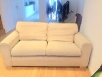 Cream material sofa collection from London