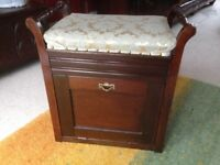 Vintage Piano stool with storage