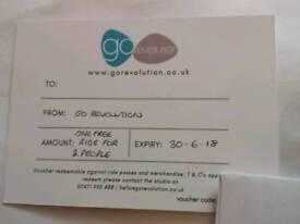 GoRevoution Voucher. Value £26
