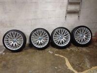 """bmw 20"""" alloys + tyres"""