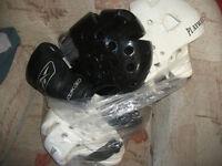 Reebok Training gloves and head four head protection Helmets