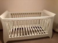 Mamas And Papas Oxford Sleigh Cot Toddler Bed