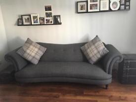 DFS Moray 4 seater sofa and cuddler chair
