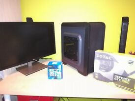 "Gaming PC Components: I5 7500, 1060 Gtx 6gb, 16gb Ram, 24"" 1ms Monitor"