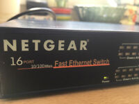 Netgear 16-Port Fast Ethernet Switch (used)