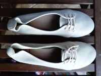 Leather Spanish cream flats 6.5-7 new