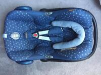 Maxi Cosi Cabriofix Car Seat Denim Hearts