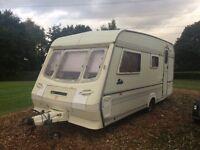 4 berth caravan Compass Rallye 1991