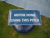 Motorhome parking sign